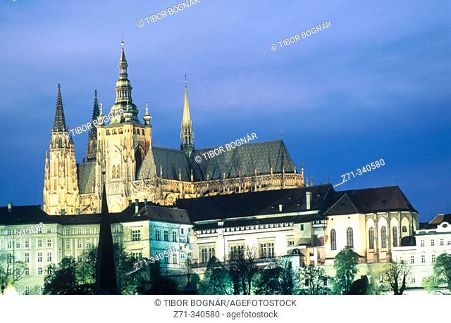 Castle and Cathedral. Prague. Czech republic