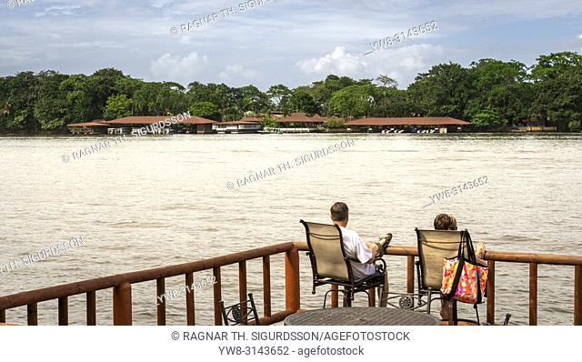 Couple on the deck at Pachira Lodge, Costa Rica