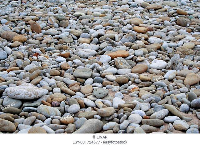 smooth beach stones