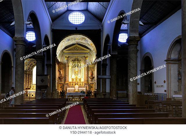 interior of Igreja de São Sebastião - Church of St. Sebastian, classified as a National Monument, Old town of Lagos, Algarve, Portugal, Europe