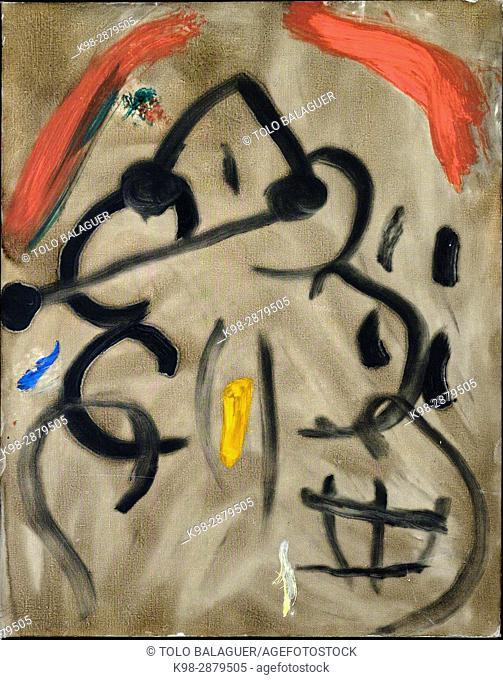 joan Miró, Sin titulo, 1977, óleo sobre tela, Fundació Pilar i Joan Miró , Palma, Mallorca, balearic islands, spain, europe