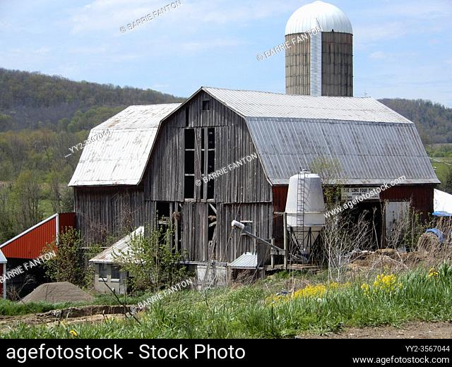 Old Barn and Silo, Allegany County, New York, USA