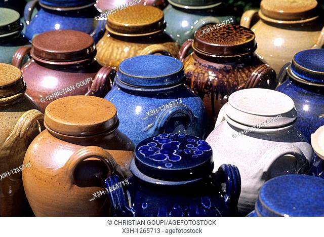 pottery in Saint-Amand-en-Puisaye, Nievre department, region of Burgundy, center of France, Europe