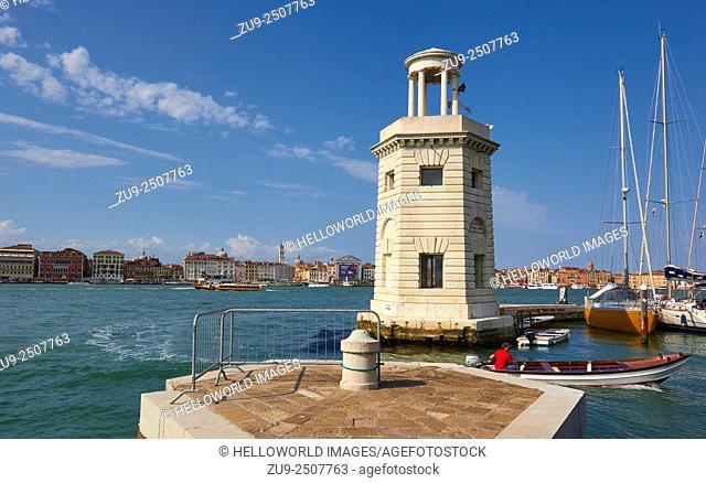 Venice from San Giorgio Maggiore island, Veneto, Italy, Europe