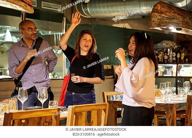 Bar restaurant Xarma, Gastronomic tour, guide with tourists, Donostia, San Sebastian, Gipuzkoa, Basque Country, Spain, Europe