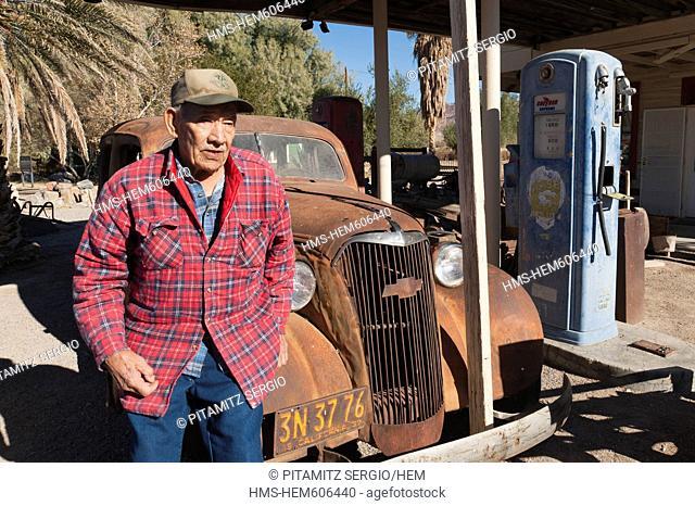 United States, California, Shoshone, old gas station