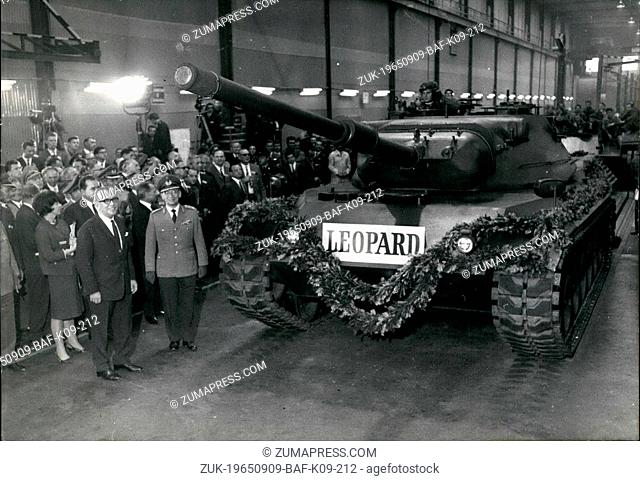 Sep. 09, 1965 - the first tank of a series...of the German Bunderwehr called 'Leopard' was during a ceremonial in Munich on September 9