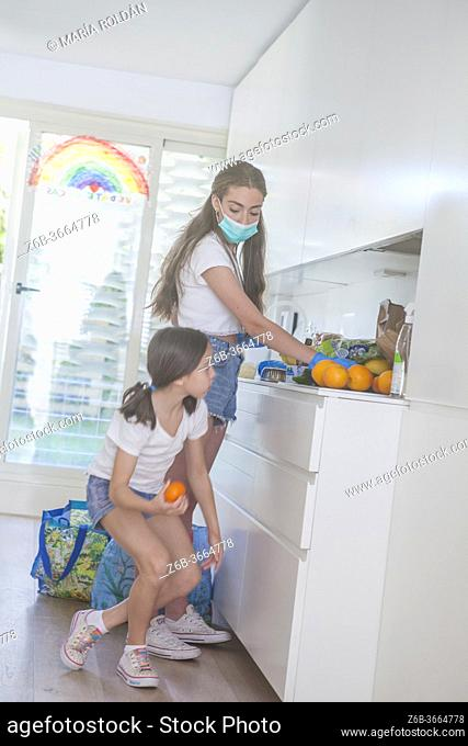 kid helping in the kitchen