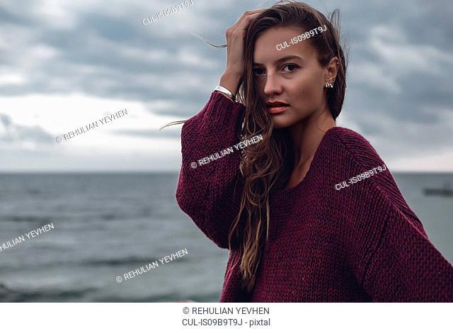 Woman by seaside, Odessa, Odes'ka Oblast', Ukraine