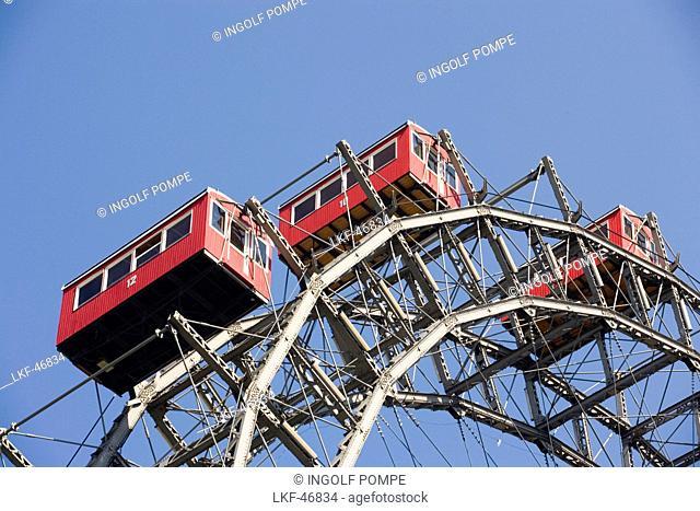 Part of the Ferris wheel, Prater, Vienna, Austria