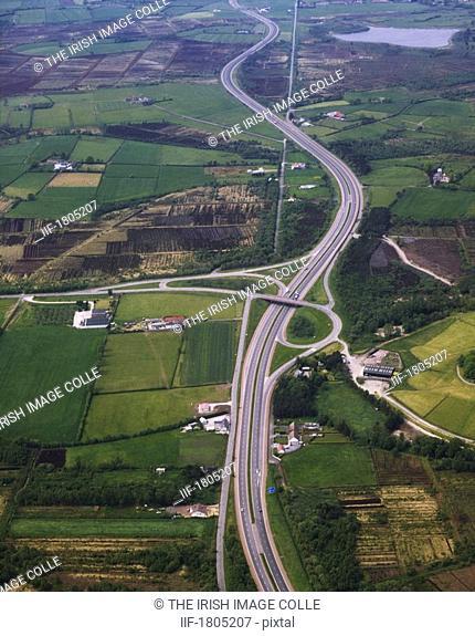 Transport, Motorways, M1 near Lurgan N  Ireland