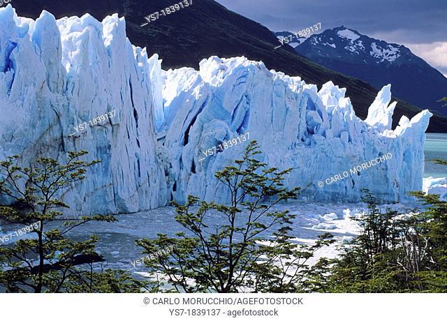 The Perito Moreno Glacier is a glacier located in the Los Glaciares National Park in the south west of Santa Cruz province, Patagonia, Argentina, South America