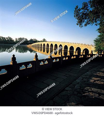 seventeen-arch bridge at Summer Palace,Beijing,China