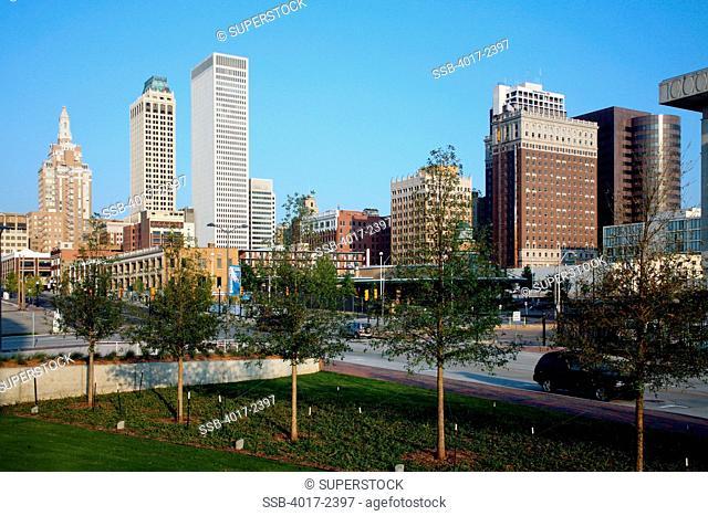 Tulsa Oklahoma Skyline from Outskirts of Downtown