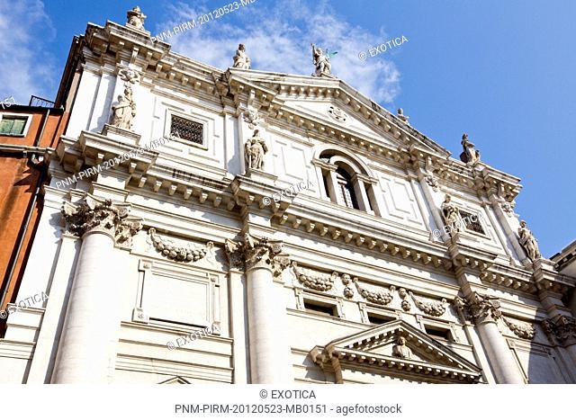 Facade of a church, Venice, Veneto, Italy