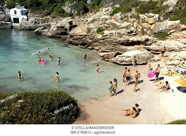 Beach at Cala Binidali, Minorca, Menorca, Balearic Islands, Spain