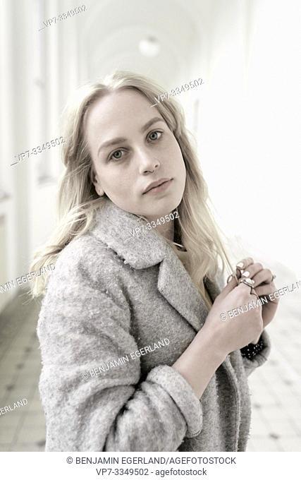 young melancholic woman