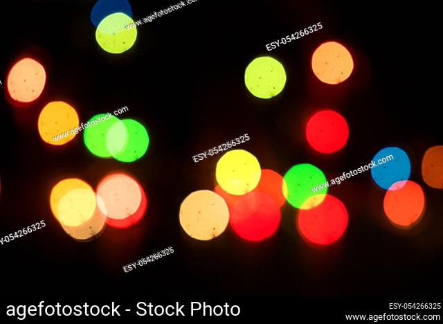 Defocused light dots abstract background. Abstract lights, blurred abstract pattern, Abstract bokeh background