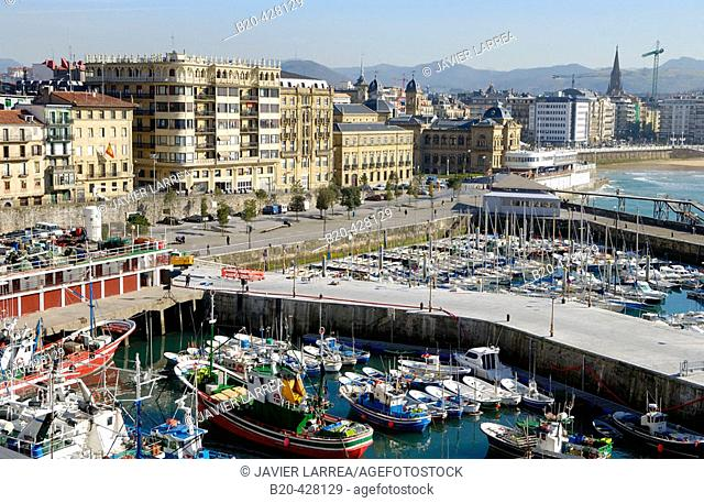 Port. Donostia, San Sebastian. Euskadi. Spain
