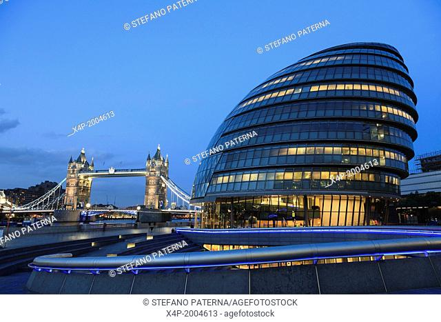 The Scoop, City Hall and Tower Bridge, London, UK