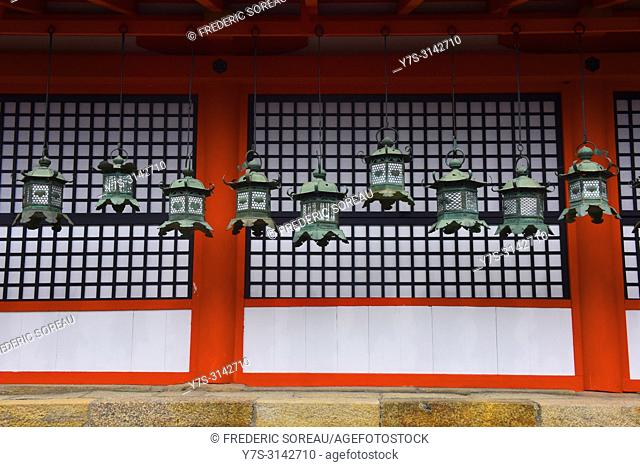 Japanese lanterns at Kasuga-taisha shrine,Nara,Japan,Asia
