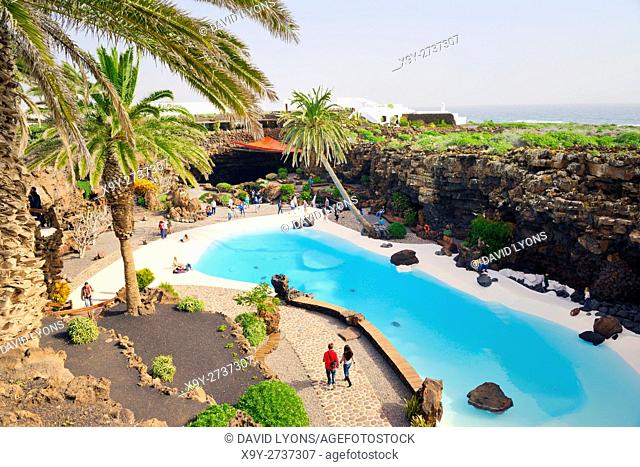 Jameos del Agua, the cave concert nightclub venue created by Cesar Manrique in the volcanic landscape of the island of Lanzarote