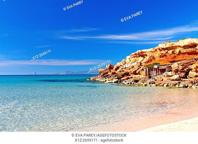 The pier of Cala Saona. Formentera (Balearic Islands)