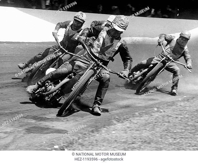 Speedway race at Exeter, Devon, c1952-c1953