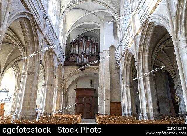 Blois france on dec 30, 2019: Cathedral of St. Louis of Blois, Loire valley France