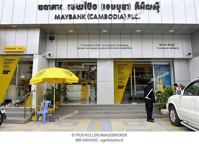 Entrance of Maybank in Phnom Penh, Cambodia