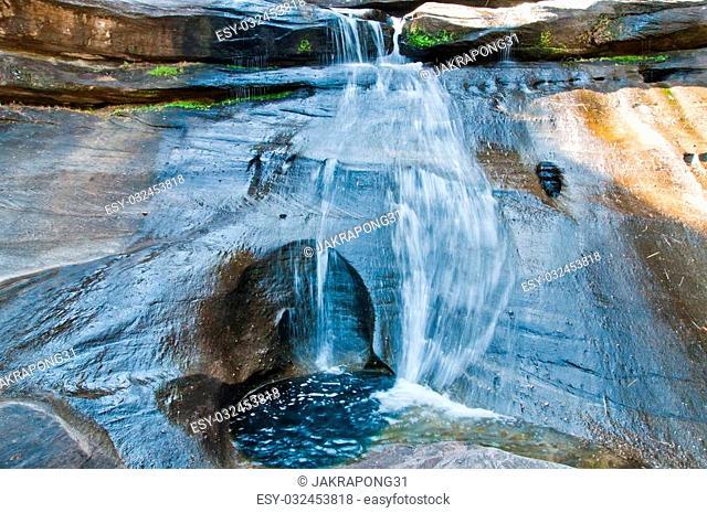 Soi Sawan Waterfall , National Park in Pha Taem Ubon Ratchathani