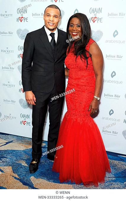 Celebrity arrivals on the red carpet for the Chain of Hope Gala Ball 2017 Featuring: Chris Eubank Jr, Tessa Sanderson Where: London