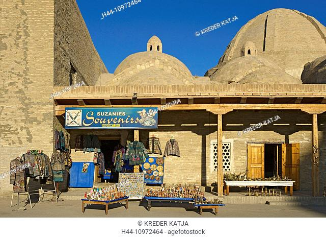 Asia, Uzbekistan, Central Asia, silk road, outside, day, building, construction, architecture, market stall, state, market, sales, stand, bazaar, souvenir