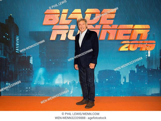'Blade Runner 2049' photocall in London Featuring: Harrison Ford Where: London, United Kingdom When: 21 Sep 2017 Credit: Phil Lewis/WENN.com