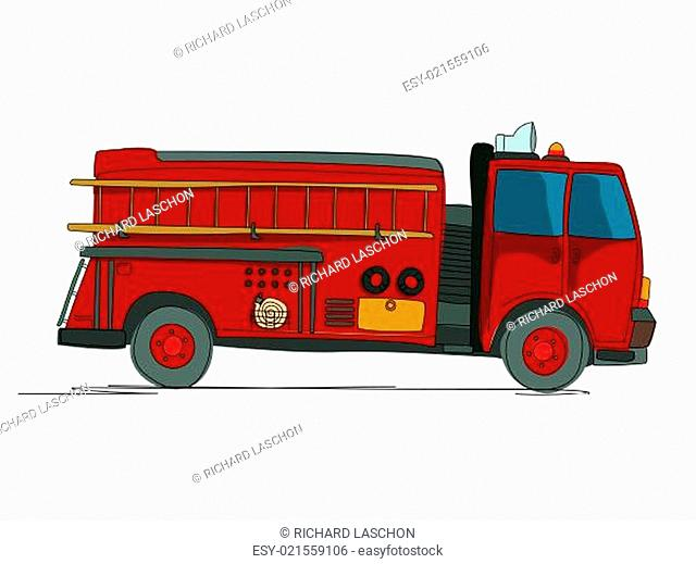 Fire truck cartoon