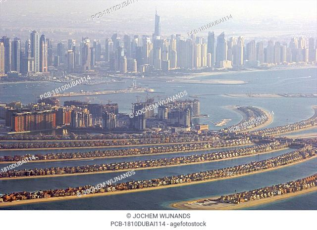 Dubai, Palm Jumeirah, manmade islands in the sea