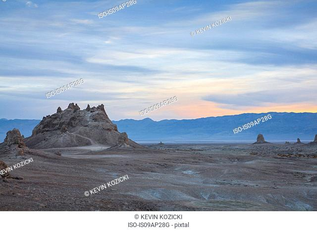 View of Trona Pinnacles at dawn, Trona, California, USA