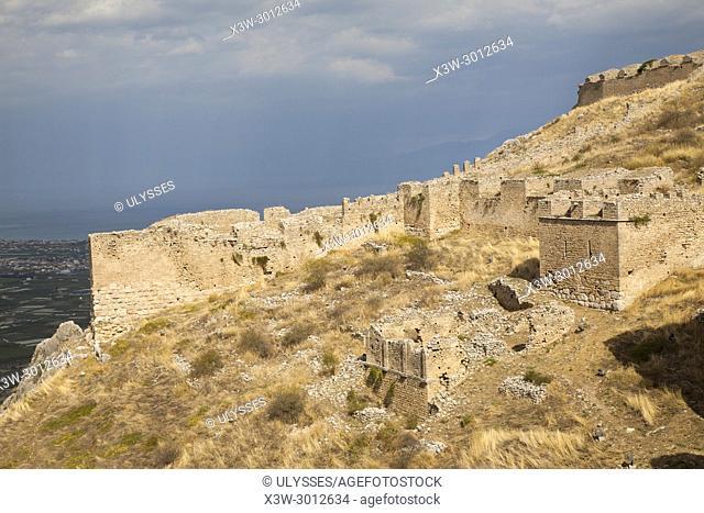 Europe, Greece, Peloponnese, Corinth, acropolis of Acrocorinth