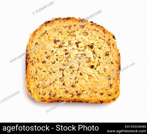 Gluten Free Bread isolated on white background