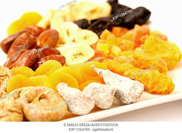 Dried fruits  Dates, bananas, figs, prunes, pears, apricots