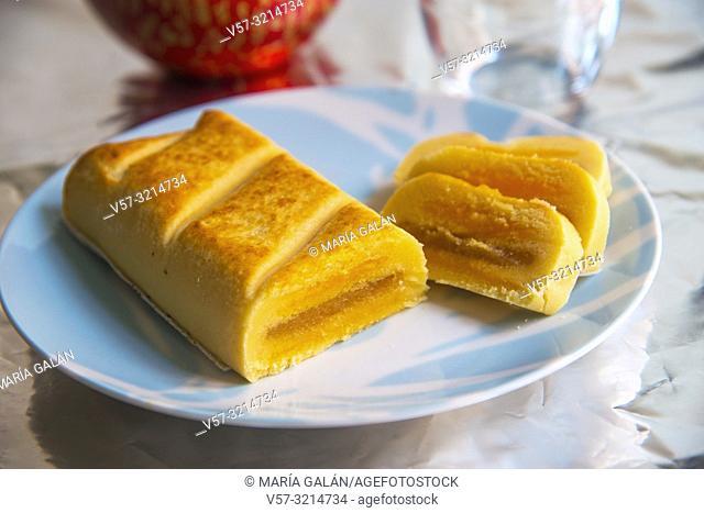 Pan de Cadiz, traditional Christmas sweet made of marzipan. Spain