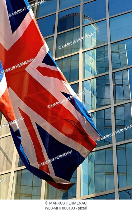 Belgium, Brussets, View of Parliament building with British flag