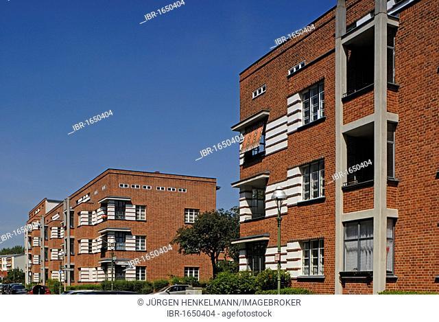 Schiller Park Housing Estate, a Berlin Modernism housing estate, UNESCO World Heritage Site, built in 1924-1930 by Bruno Taut and Franz Hoffmann