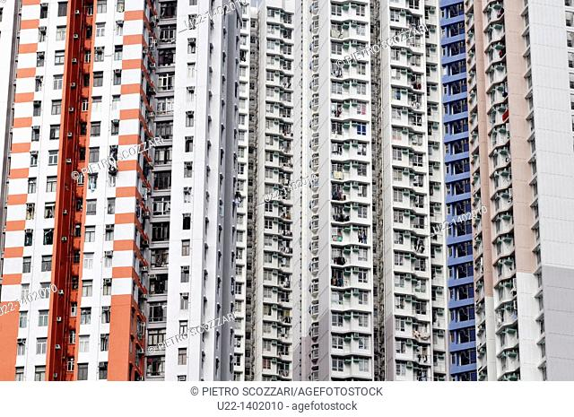 Hong Kong: apartment buildings in Abardeen
