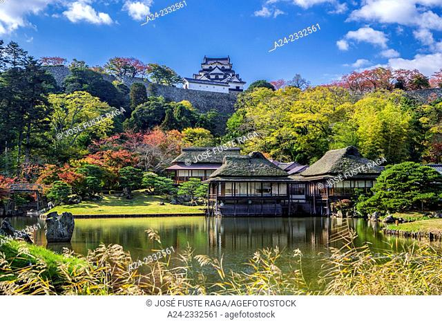 Japan , Hikone City, Genkyu Garden and Hikone Castle