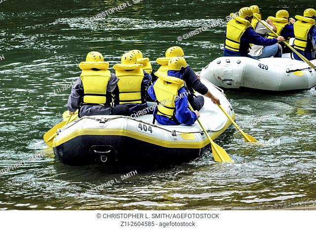 Whitewater rafting trip on the Youghiogheny River in Pennsylvania
