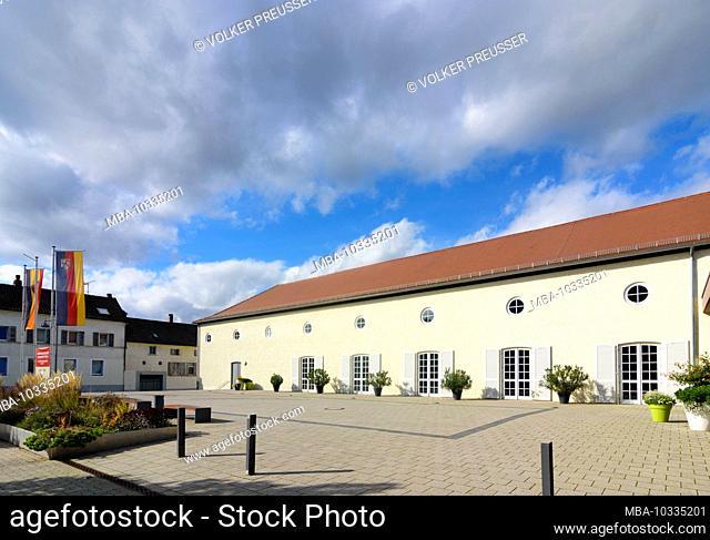 Annweiler am Trifels, hall Hohenstaufensaal in Pfälzerwald, Palatinate Forest, Rhineland-Palatinate, Germany