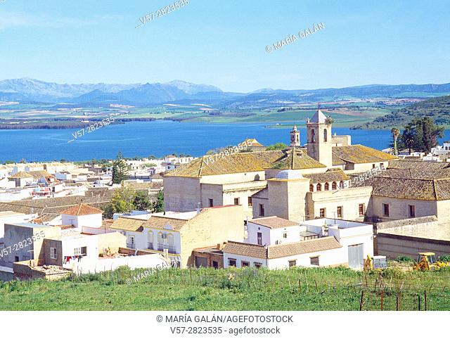 Overview and reservoir. Bornos, Cadiz province, Andalucia, Spain