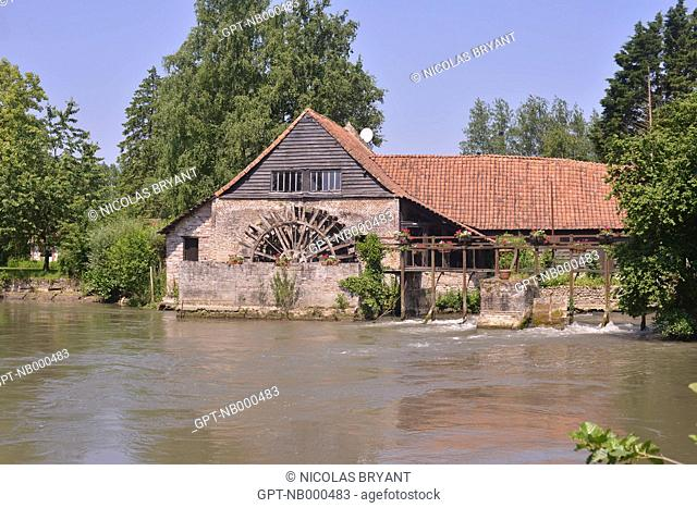 THE MAINTENAY MILL DATES FROM THE 12TH CENTURY AND IS SITUATED A STONE'S THROW FROM THE ABBEY OF VALLOIRES, ARGOULES, SOMME (80), PICARDIE, FRANCE