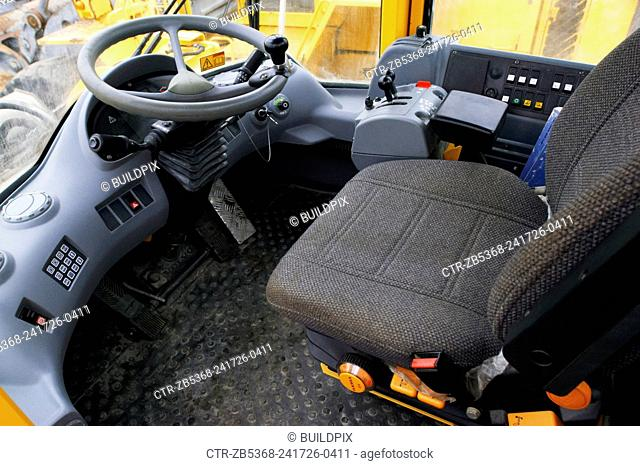 Seat and controls of plant
